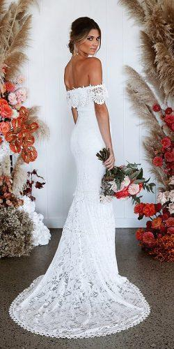 off the shoulder wedding dresses sheath off the shoulder lace straight neckline grace loves lace