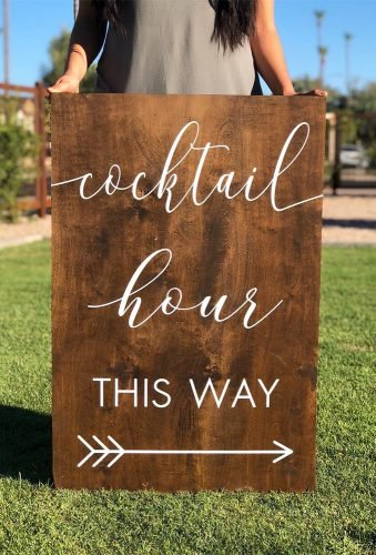 rustic wedding signs receprion sign andrealeighdesigns