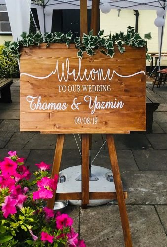 rustic wedding signs sign with greenery simply rustic