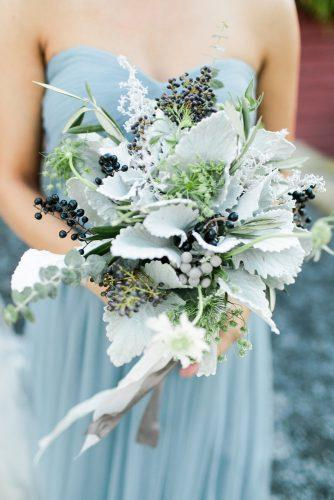 silver sage wedding bouquet for bridesmaid without flowers rachel may photography