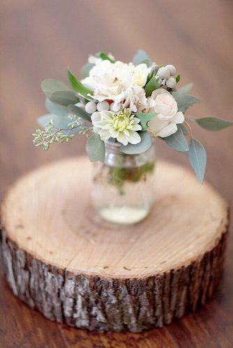 silver sage wedding rustic centerpiece flowers in glass jar simply bloom photography