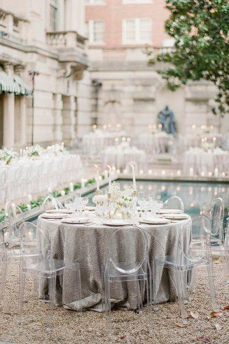 silver sage wedding table with textured tablecloth near the pool ktmerry