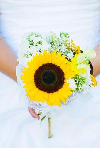 single stem wedding bouquets single sunflower natalie hilliard