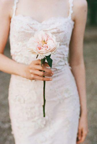 single stem wedding bouquets tender peony This Modern Romance