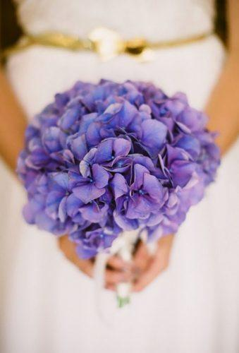 single stem wedding bouquets violet hydrangea Jessica Watson
