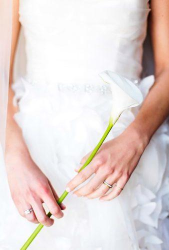 single stem wedding bouquets white calla lily Elena Graham Photography