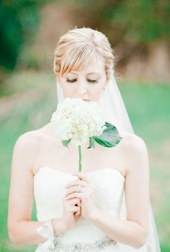 single stem wedding bouquets white hydrangea Jordan Brittley