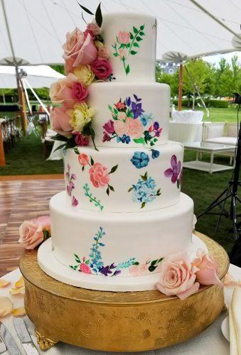 spring wedding cakes tender watercolor cake bellaedolce