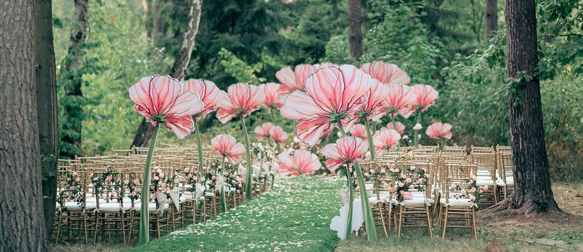 spring wedding decor featured