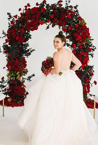 valentines day wedding ideas bride near arch Braedon Photography