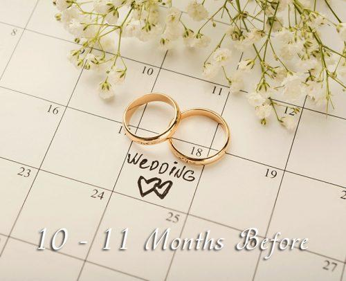 wedding checklist 10 11 months before pick wedding date calendar