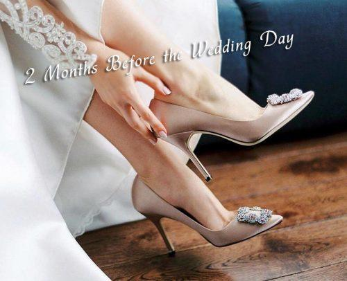 wedding checklist 2 months before wedding shoes fit