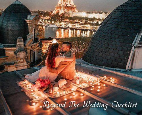 wedding checklist beyond the wedding checklist couple honeymoon