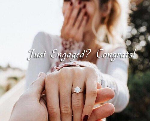 wedding checklist engagement ring hand girl said yes