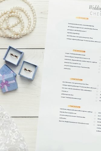 wedding checklist rings decor
