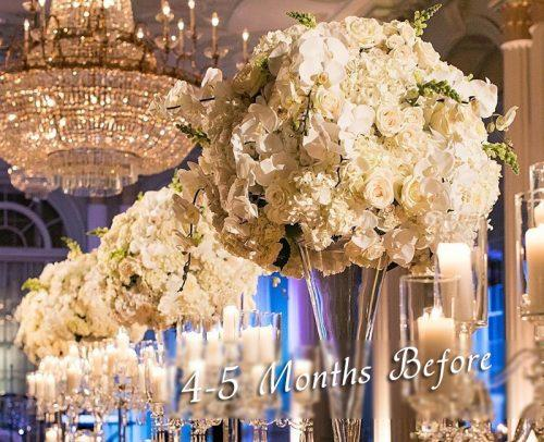 wedding checklist venue decor flowers gorgeous 4 5 months before wedding