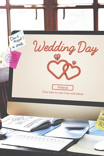 wedding checklist wedding website computer