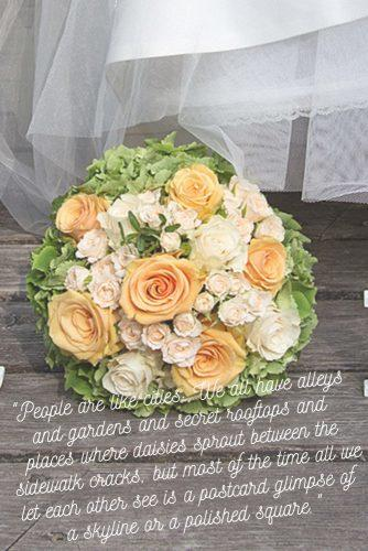 wedding readings about love newlyweds with bouquet
