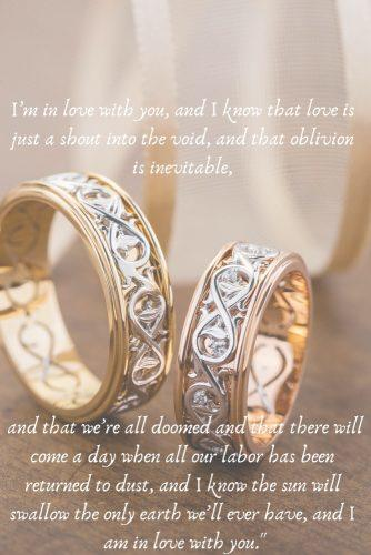 wedding readings from literature wedding rings matching