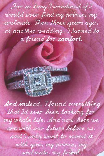 wedding readings from movies rose engagement ring
