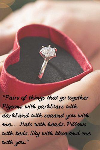 wedding readings funny engagement ring in engagement box