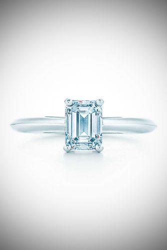 zodiac engagement rings simple solitaire emerald cut capricorn