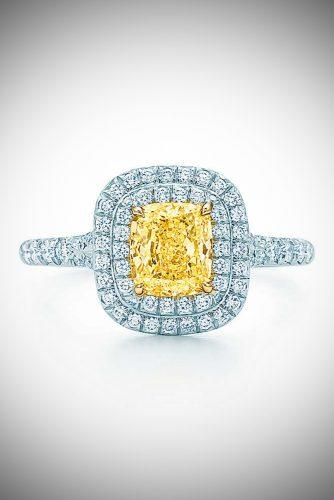 zodiac engagement rings tiffany soleste cushion cut yellow diamond