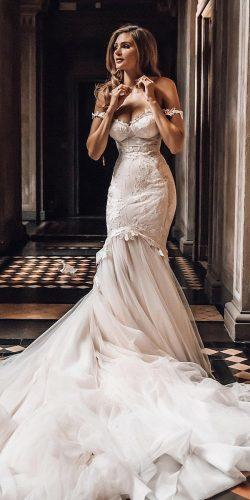 best wedding dresses fit and flare off the shoulder galia lahav