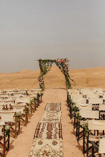 bohemian wedding decorations outdoor ceremony in desert petar jurica