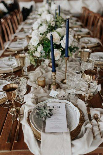 bohemian wedding decorations white green place settin with candles cloth and succulent melissamarshallx