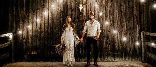 bohemian wedding look featured