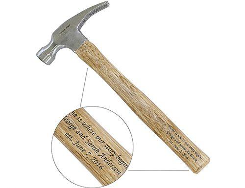 bridal shower gifts engraved hammer