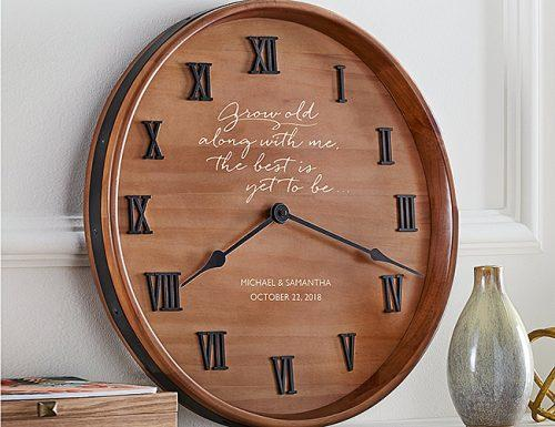 bridal shower gifts grow old with me clock