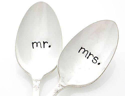 bridal shower gifts his her coffee spoons