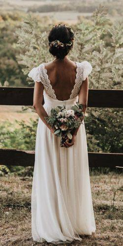 country style wedding dresses a line with cape sleeves v back barn lovel weddingday