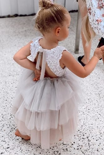 flower girl dresses ruffled tulle skirt ombre open back princessbypallas