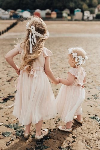flower girl dresses rustic tulle skirt with bow blush rebeccacarpenter