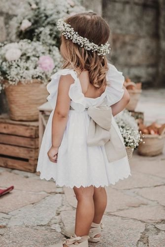 flower girl dresses simple with bow rustic boho fluxus photography