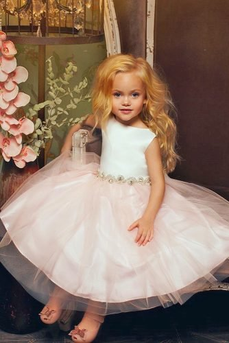 flower girl dresses tulle skirt pink simple petiteadele