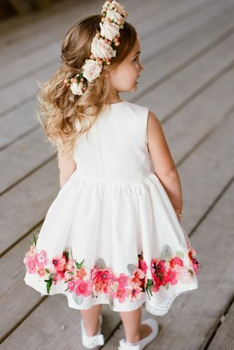 flower girl dresses with floral appliques rustic kelly hornberger
