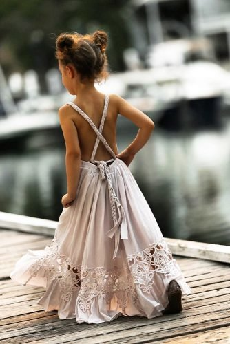 flower girl dresses x cross back bohemian rustic with lace teaprincessaust