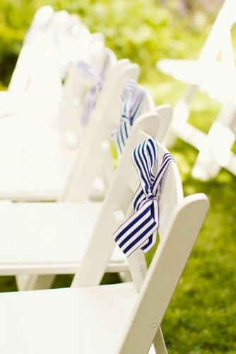 nautical wedding decor ideas chair decor Gem Photo