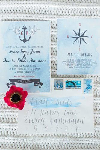 nautical wedding decor ideas nautical polygraphy B. Jones Photography