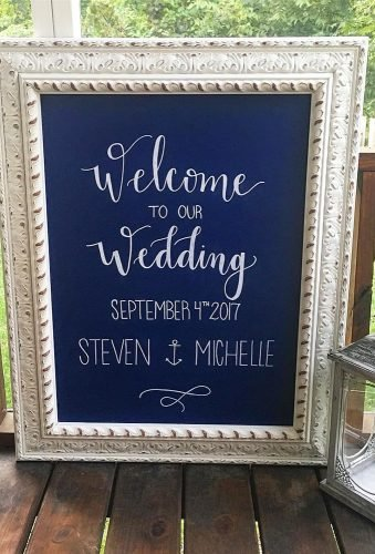 nautical wedding decor ideas reception sign signsofourlives