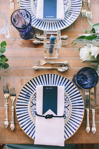 nautical wedding decor ideas seating place Pahountis Photography