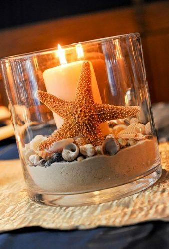 nautical wedding decor ideas starfish centerpiece afloral