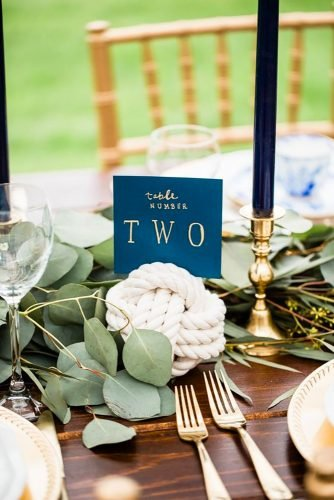 nautical wedding decor ideas table decor centerpiece Cora Jane Photo Co