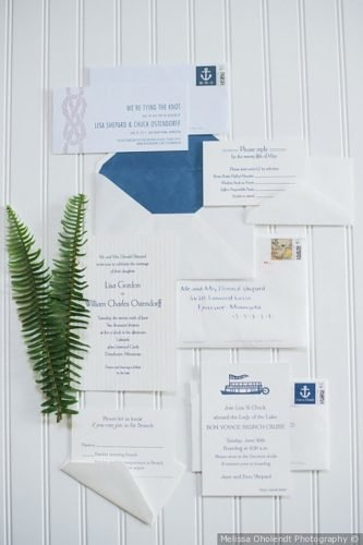 nautical wedding decor ideas wedding invitations melissa oholendt photography