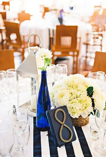 nautical wedding decor ideas wedding table decor Rebekah J.Murray