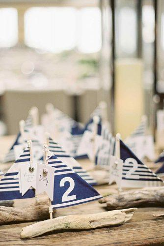 nautical wedding tablenumber ideas with diy ships stephanie hunter photography